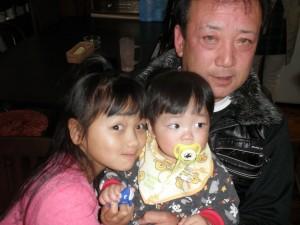 孫と食事会-広島遊漁船海斗