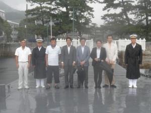 視察手伝い-広島遊漁船海斗