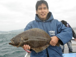 ヒラメ-広島遊漁船海斗
