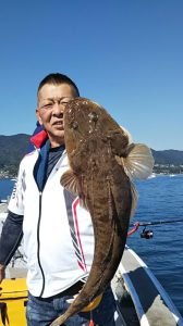 マゴチ-広島遊漁船海斗