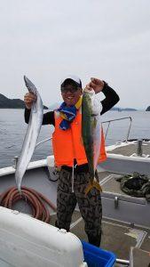 タチウオ・ハマチ-広島遊漁船海斗